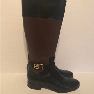 Michael Kors Leather Boots Size 11M